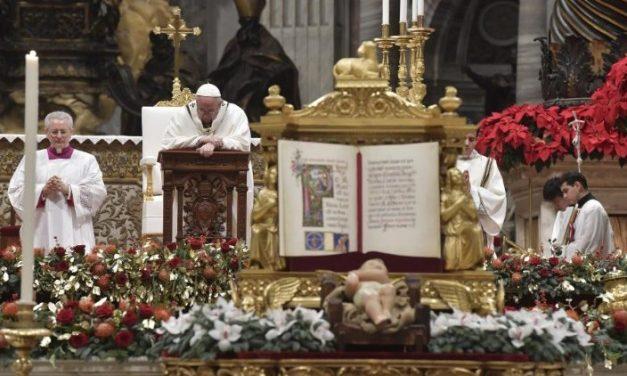 Noaptea de Crăciun 2018, Papa Francisc