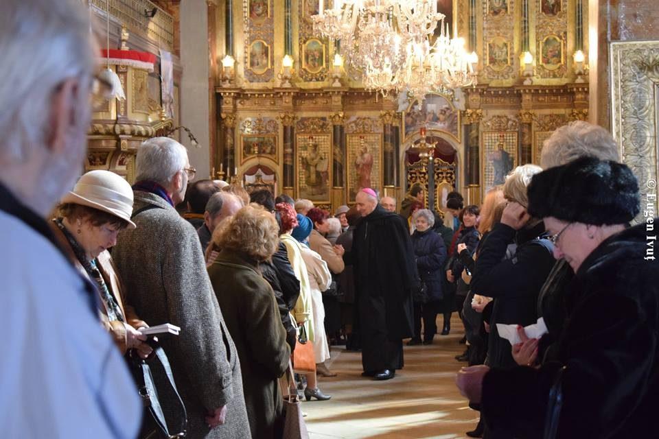 PS Virgil Bercea, la Sfânta Liturghie a Duminicii I din Postul Mare
