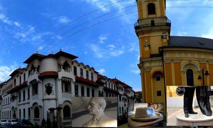 """Statuia """"Sfinxului de la Bădăcin"""" în centrul Oradiei"""