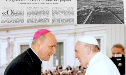 PS Virgil Bercea, L'Osservatore romano: un gest care va atinge inima poporului