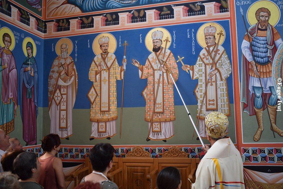 Icoanele murale ale Fericiților Episcopi martiri, în parohia Velența din Oradea