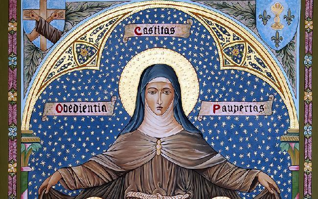 Sf. Clara de Assisi, lumină a virtuților creștinești