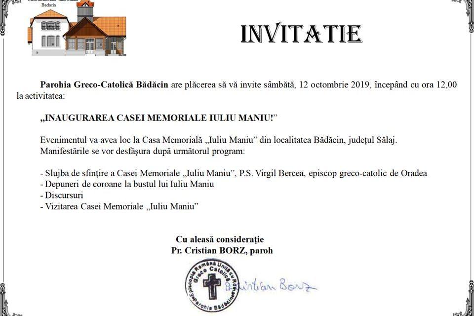 """Inaugurarea Casei Memoriale """"Iuliu Maniu"""""""