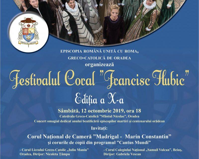 "INVITAȚIE: Festivalul Coral ""Francisc Hubic"" 2019"