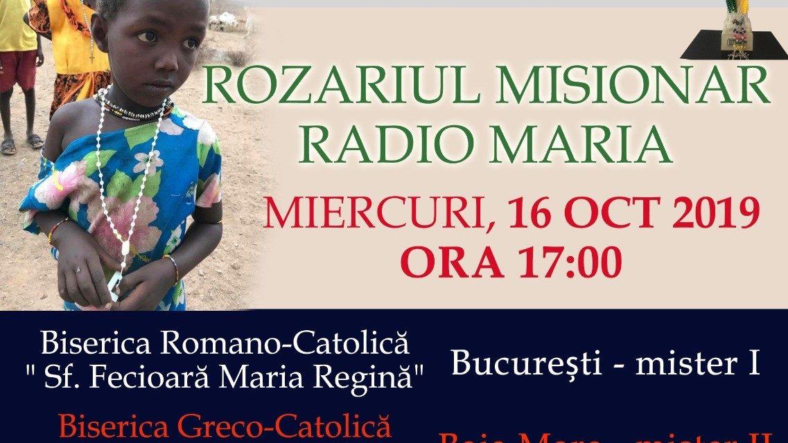Invitație: Rugăciunea Rozarului misionar