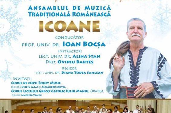 """Concertul de iarnă, colinde și cântece tradiționale susținut de Ansamblul de Muzică Tradițională Românească """"Icoane"""""""