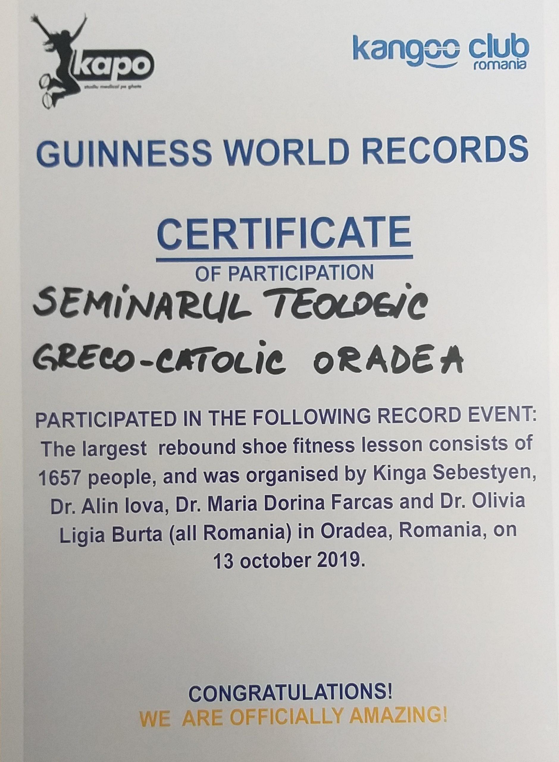 Record mondial omologat la Oradea
