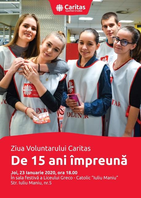 INVITAŢIE: Ziua Voluntarului Caritas