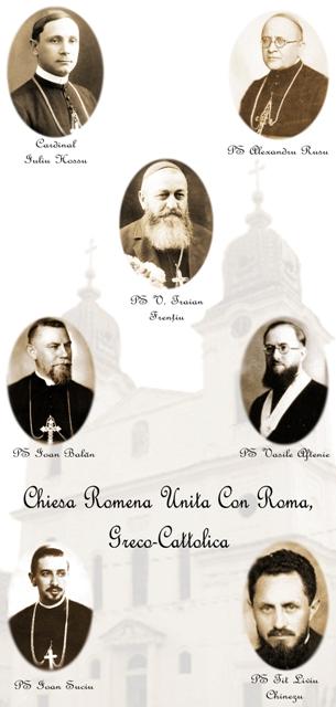 Cei șapte fericiți episcopi greco-catolici martiri români