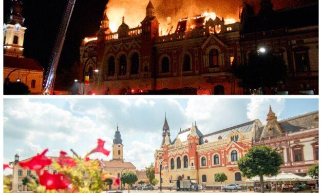 Doi ani de la incendiul Palatului Episcopal Greco-Catolic din Oradea