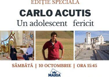 COMUNICAT DE PRESĂ Ediție specială la Maria Tv cu ocazia beatificării lui Carlo Acutis