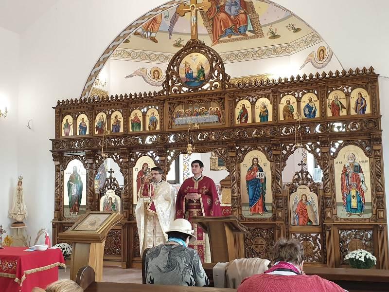Vizita părintelui vicar cu preoții la Tinca