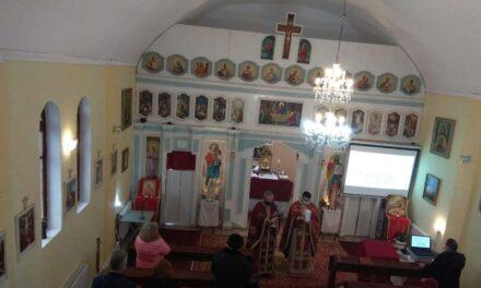 Vizita părintelui vicar cu preoții în Parohia Sânmartin
