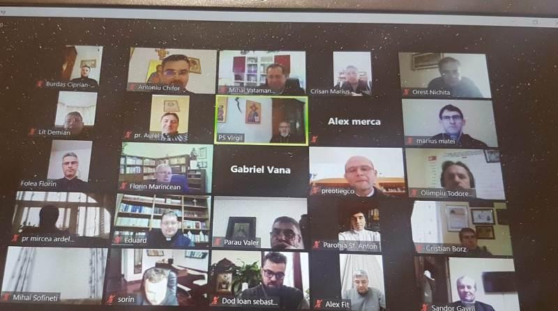 A doua întâlnire online a preoților din Episcopia de Oradea