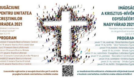 Săptămâna de Rugăciune pentru Unitatea Creştinilor 2021