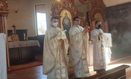 """Vizita Părintelui vicar cu preoții în Parohia """"Tuturor Sfinților"""""""
