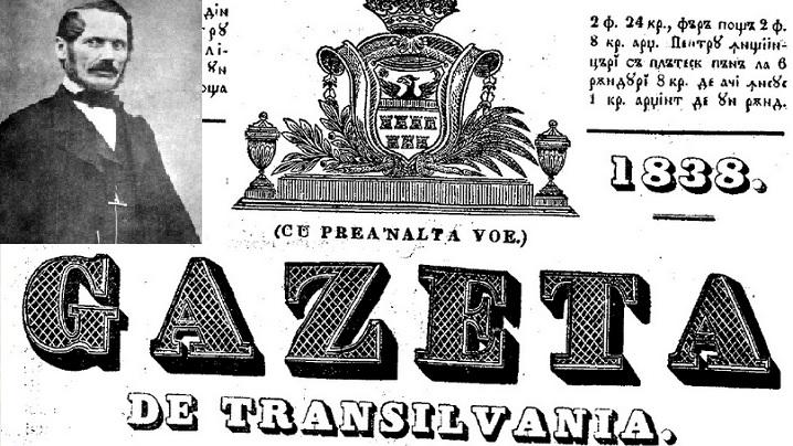 183 de ani de la apariția primului ziar românesc din Transilvania. Fondator greco-catolic