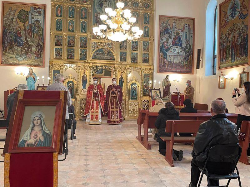Vizita Părintelui vicar cu preoții în Parohia Haieu