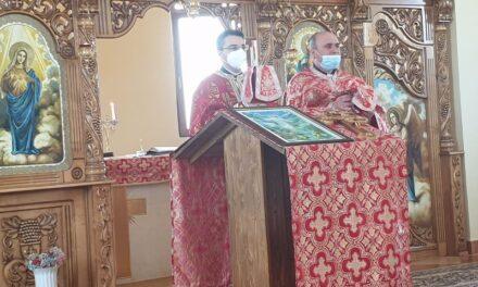 Vizita Părintelui vicar cu preoții în Parohia Nojorid