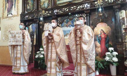 Vizita părintelui vicar cu preoții în Parohia Marghita