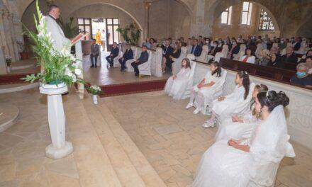 """Prima Sfântă Spovadă și Împărtășanie solemnă în Parohia """"Sfântul Apostol Andrei"""" din Carei."""
