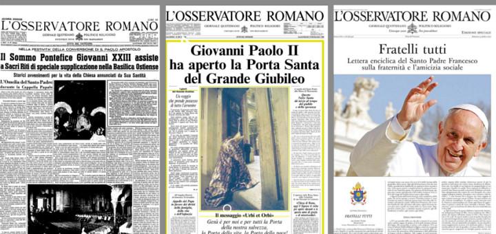 L'Osservatore Romano împlinește 160 de ani