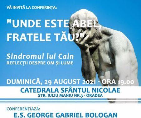 """Conferința E. S. George Bologan, ambasadorul României în Italia, în Catedrala """"Sfântul Nicolae"""""""