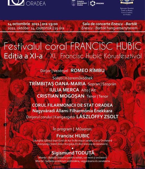 """Festivalul Coral """"Francisc Hubic"""" la Ediția a XI- a"""