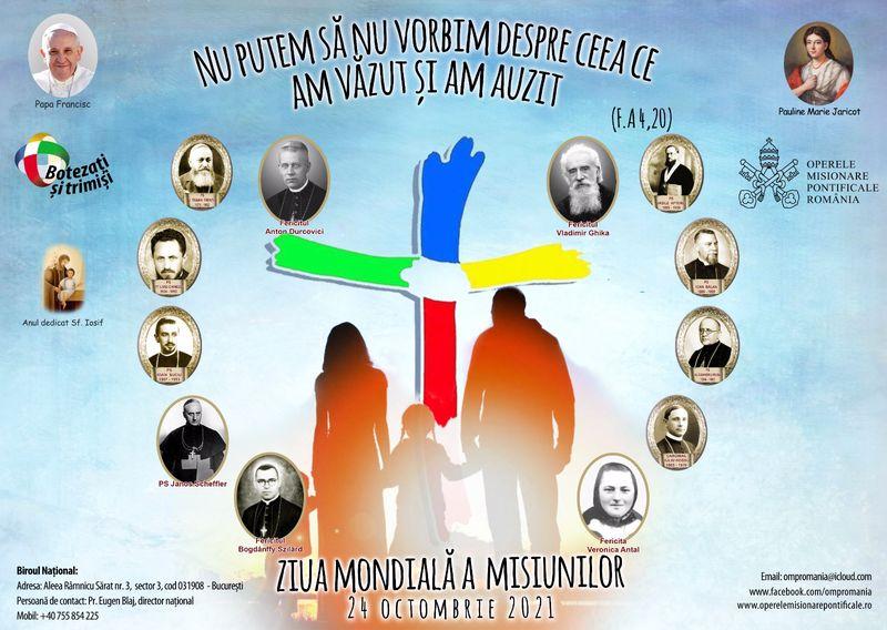 Mesajul Sfântului Părinte Francisc pentru Ziua Mondială a Misiunilor 2021