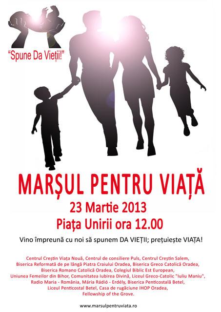 """Invitatie – Marsul pentru Viata – Sâmbata, 23 martie"","