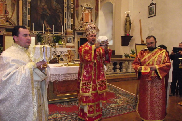 Vizita pastorala în Parohia Greco–Catolica din Villafranca (VR),