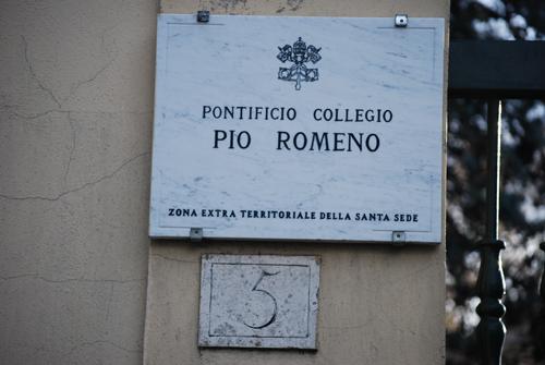 """Lansarea site-ului oficial al Colegiului Pontifical """"Pio Romeno"""" din Roma,"""