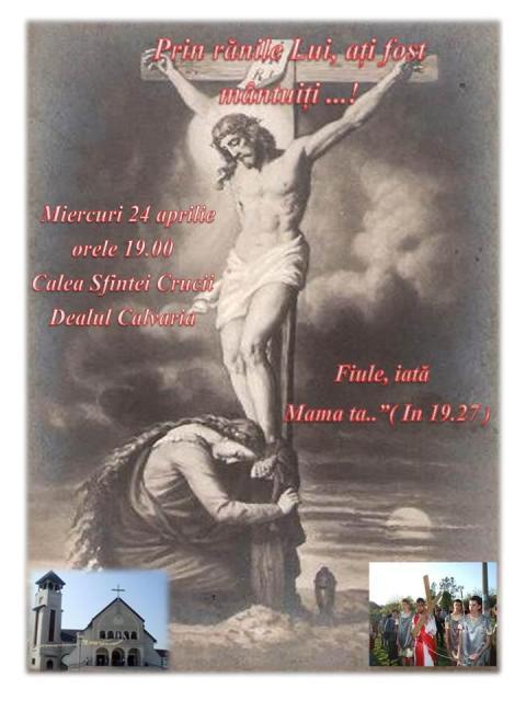 Invitatie la Calea Crucii pe dealul Calvaria (Ciuperca) din Oradea,