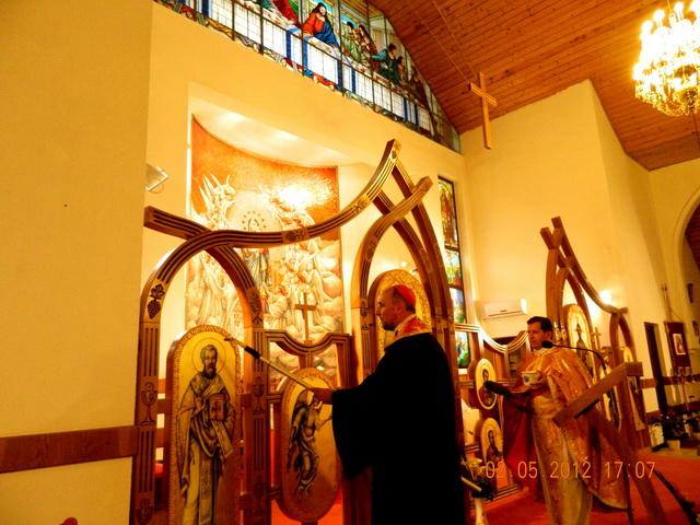 """""""Sfintirea noului iconostas la Manastirea Franciscana ,,Maica Domnului''"""","""