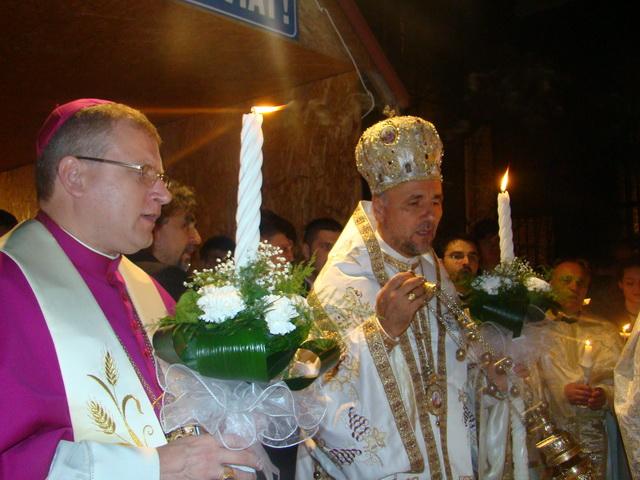 """Sarbatoarea Învierii Domnului la Catedrala """"Sfântul Nicolae""""din Oradea,"""