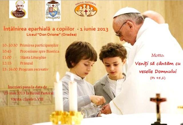 Invitatie: Întâlnirea Eparhiala a Copiilor,