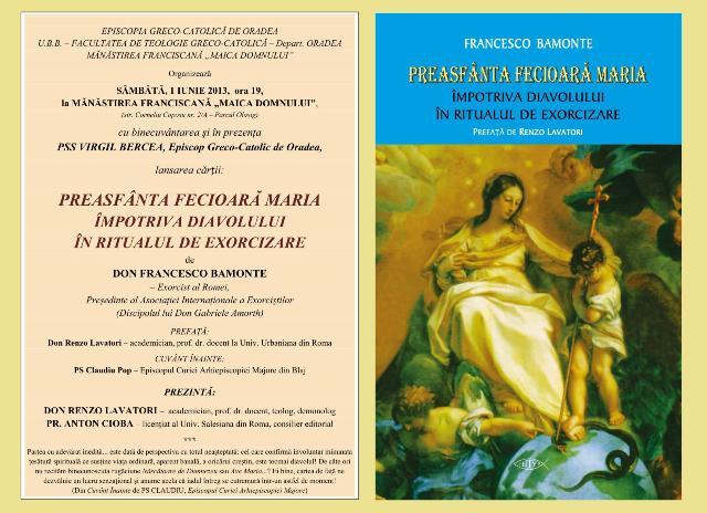 Invitatie: Lansare de carte la Manastirea Franciscana din Oradea,