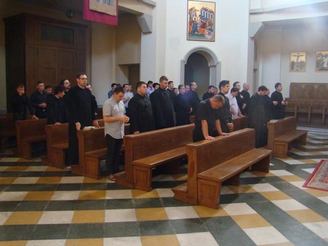 Pelerinajul seminaristilor oradeni la Roma,