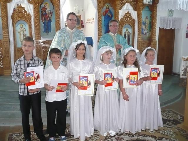 Prima Spovada si Împartasanie solemna în Parohia Marin,