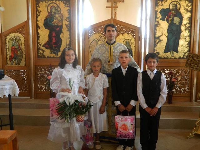 Prima Spovada si Sfânta Împartasanie Solemna la Badacin,