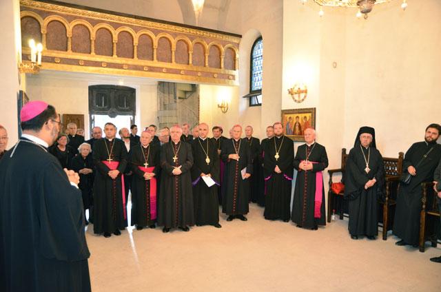 Sfintirea icoanei Fericitului Martir Vladimir Ghika la biserica vicariala greco-catolica din Bucuresti,