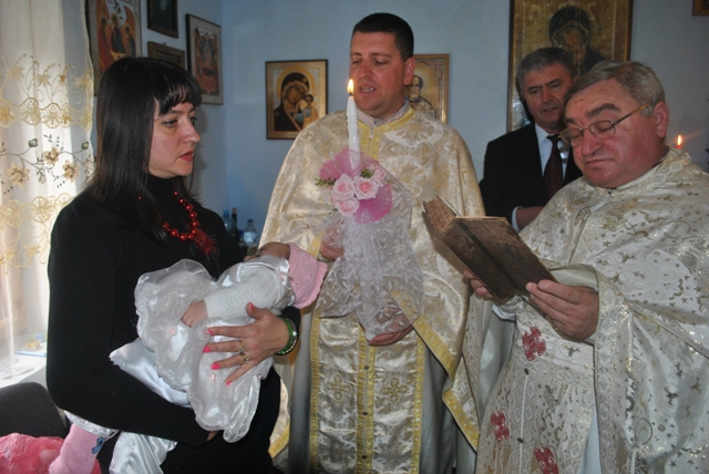 Primul botez în Parohia Poiana,