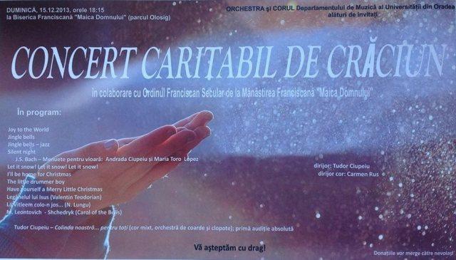 Concert caritabil de Craciun,