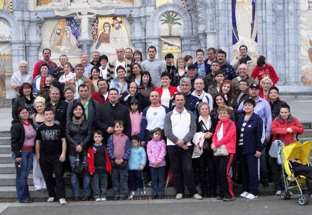 """Pelerinajul Parohiei Greco-Catolice din Calahorra, Spania, la Lourdes"","