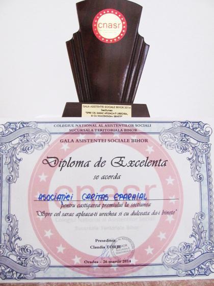 Caritas Eparhial la Gala Asistentei Sociale Bihor,