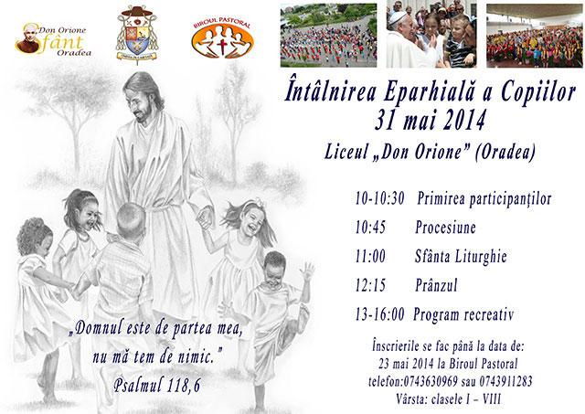Invitatie: Întâlnirea Eparhiala a Copiilor Greco-Catolici,