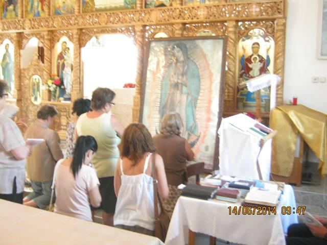 Icoana Maicii Sfinte de la Guadalupe la Alesd,
