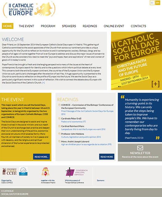 Site-ul oficial a celei de-a doua editii a Zilelor Sociale Catolice pentru Europa este online,