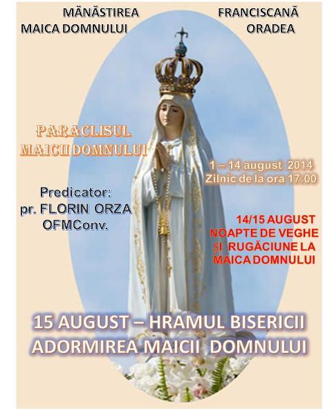 Paraclisul Maicii Domnului la Manastirea Franciscana din Oradea,