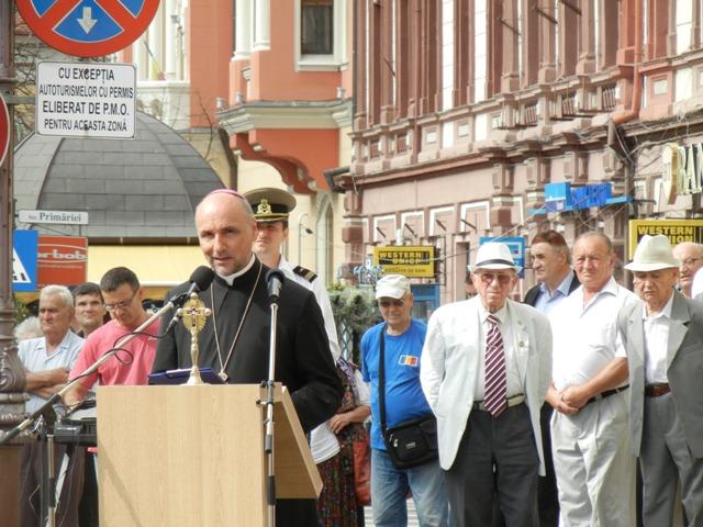 Discursul Preasfintitului Virgil Bercea la festivitatea celebrarii Zilei Imnului National al României (29 iulie 2014),